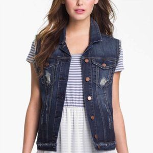 KUT FROM THE KLOTH Denim Jean Vest size Large